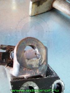 Маслянный кронштейн - после ремонта 2
